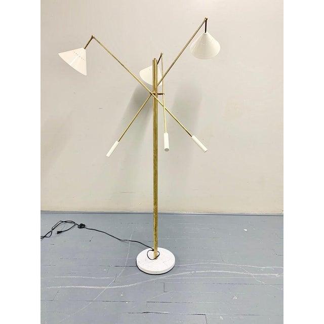 2020s Italian Brass Mid Century Style Floor Lamp For Sale - Image 5 of 12