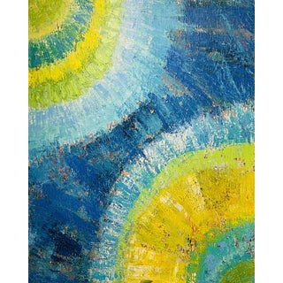 """""""Sun Meets the Sea"""" Contemporary Abstract Acrylic Painting by Bryan Boomershine For Sale"""