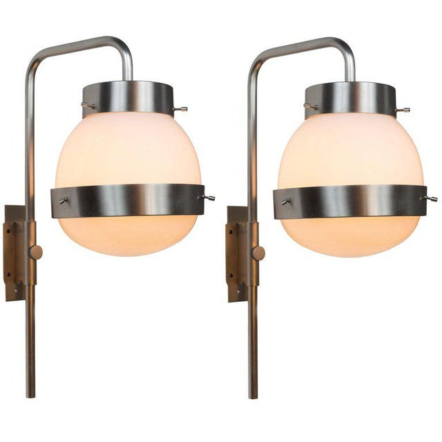1960s Sergio Mazza 'Delta' Wall Lights for Artemide - a Pair For Sale - Image 10 of 10