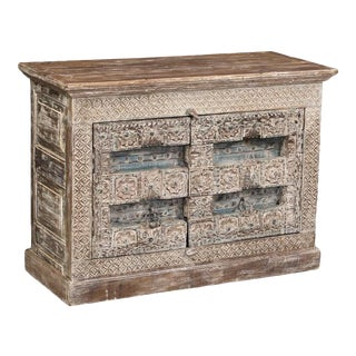 Indian Colonial-Style Buffet/Cabinet For Sale