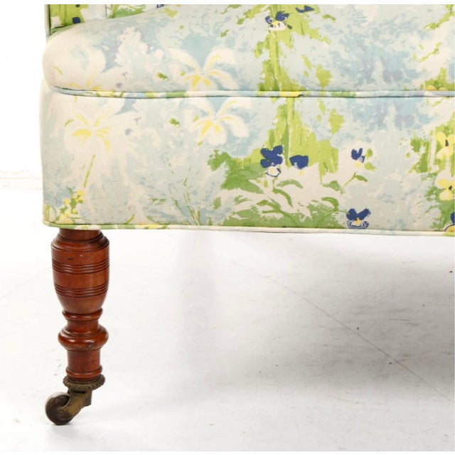 French 1940s Floral Upholstered Settee For Sale - Image 10 of 12