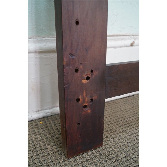 Wood Mid Century Walnut Floating Panel King Size Headboard For Sale - Image 7 of 10