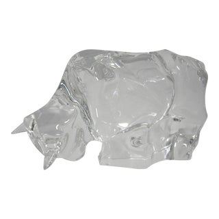 Baccarat Crystal Taureau Bull Figurine For Sale