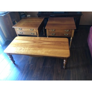 Vintage Arts and Crafts Stickley Cherry End Tables - Preview