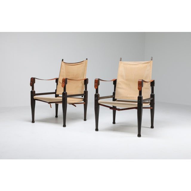 Safari Chairs Designed by Kaare Klint for Rud Rasmussen - 1960s For Sale - Image 6 of 13
