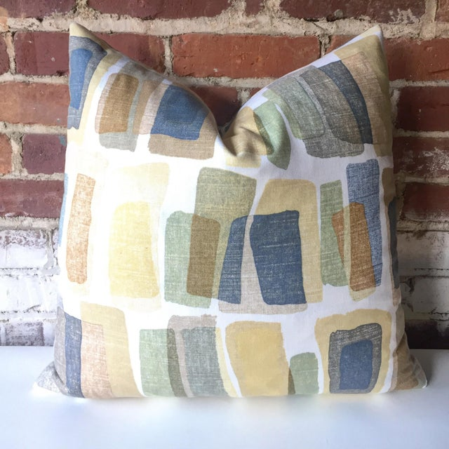 Mid-Century Stonehenge Abstract Pillow Cover - Image 2 of 3