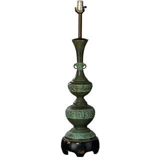 20th Century Anglo-Indian Multi Tiered Brass Table Lamp For Sale