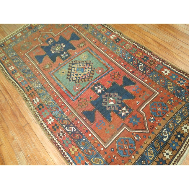 Antique Caucasian Rug, 4'6'' x 8' For Sale - Image 10 of 11