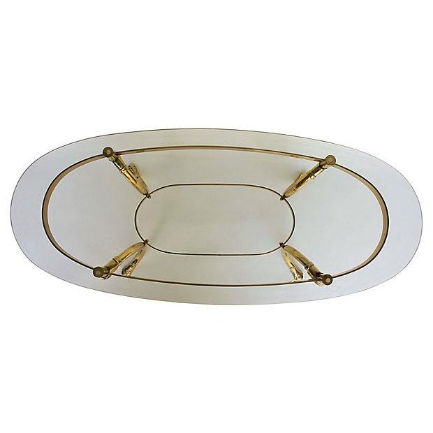 Brass & Glass Swan Coffee Table - Image 4 of 9
