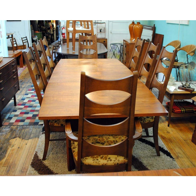 Kent Coffey Mid-Century Perspecta Dining Chairs - Set of 8 - Image 10 of 11
