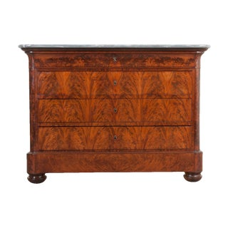 French 19th Century Louis Philippe-Style Mahogany Commode For Sale