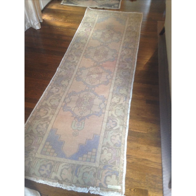 "Vintage Turkish Runner - 3'1"" X 9'7"" - Image 3 of 4"
