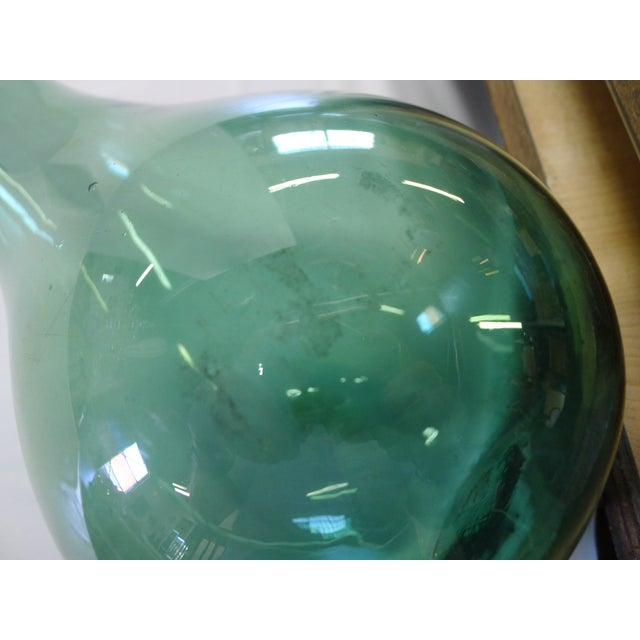 Green Vintage Blenko Floor Vase For Sale - Image 8 of 10