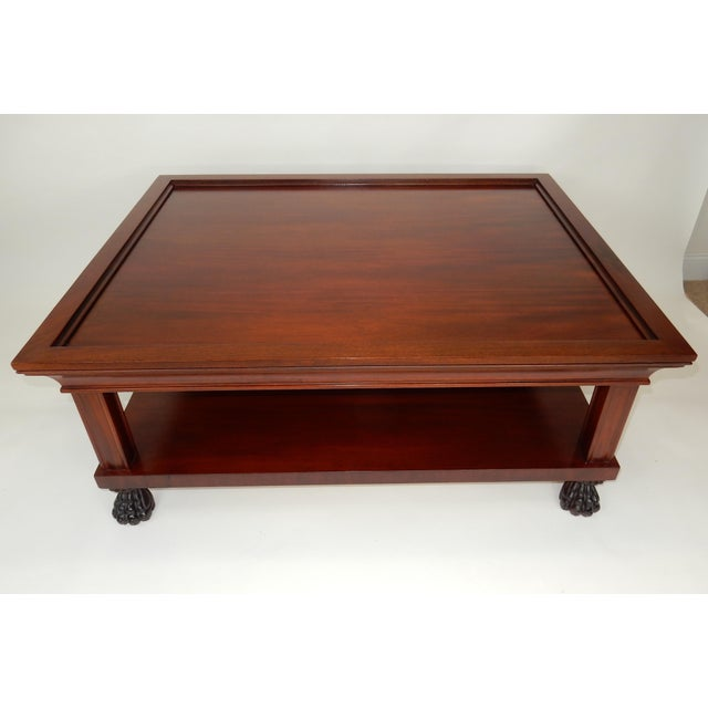 Traditional Traditional Two Tier Mahogany Coffee Table by Ralph Lauren 50 Inches For Sale - Image 3 of 13