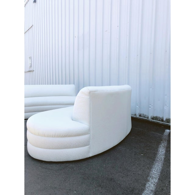 1990s Curved Couches After Vladimir Kagan - a Pair For Sale - Image 5 of 13