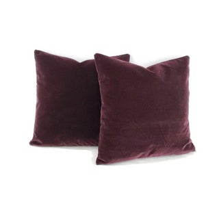 "Pollack Sedan Plush in Imperial Purple Pillow Cover - 20"" X 20"" Dark Purple Velvet Cushion Case Preview"
