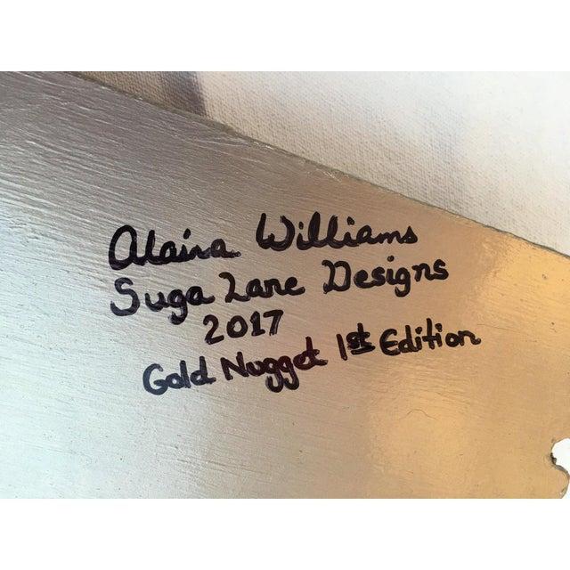 "Suga Lane ""Gilt Optimiso"" Gold Concrete Rock Brutalist Inspired Sculpture For Sale - Image 10 of 11"