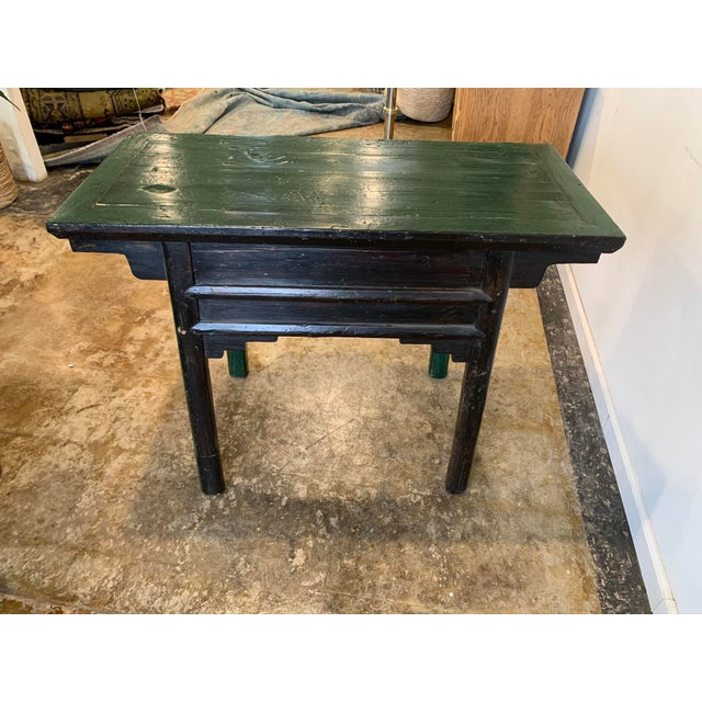 Vintage Asian Console Table in Green For Sale - Image 10 of 12