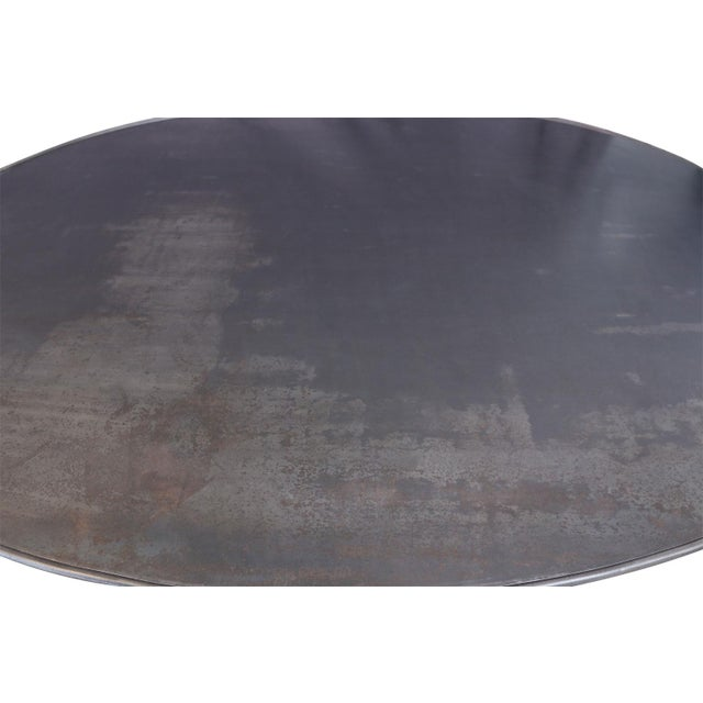 Not Yet Made - Made To Order Oval Hand-Forged Steel Table For Sale - Image 5 of 8