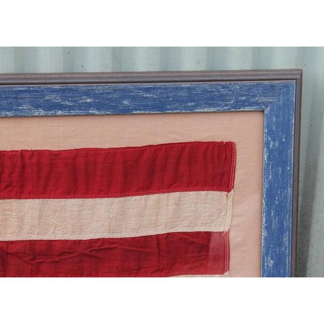 Monumental 46 Star Framed American Flag from 1909 - Image 4 of 6