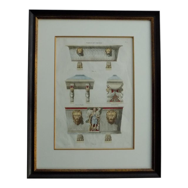 Mid 18th Century Antique Bouillion Italian Vases Print For Sale