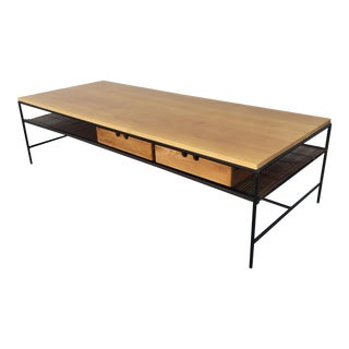 Paul McCobb Planner Group Iron and Maple Coffee Table For Sale
