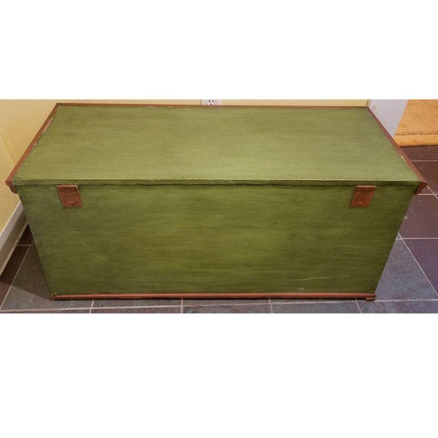 19th Century Antique Green Swedish Trunk For Sale - Image 4 of 9