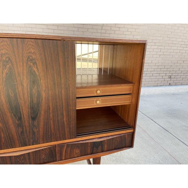 Arne Vodder Arne Vodder Style Rosewood Highboard For Sale - Image 4 of 11