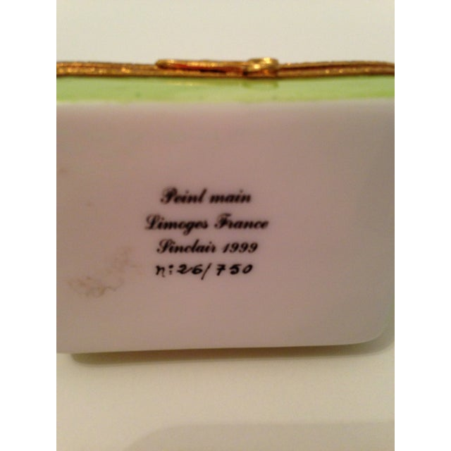 Limoges Box with White Maltese Top - Image 4 of 7