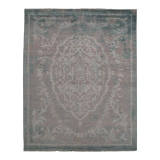"""Modern Pasargad N Y Wool & Bamboo Silk Hand Knotted Area Rug - 8'1"""" X 10'2"""""""