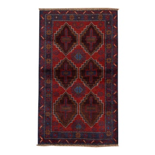 "Vintage Pakistani Balouch Rug, 2'7"" X 4'4"""