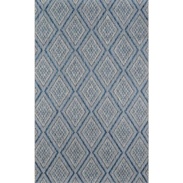 "Fiber Madcap Cottage Lake Palace Rajastan Weekend Blue Indoor/Outdoor Area Rug 5'3"" X 7'6"" For Sale - Image 7 of 7"