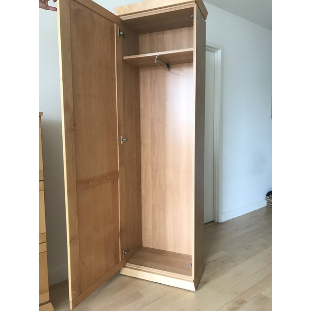 Tall Alder Wood Entryway Armoire - Image 3 of 11