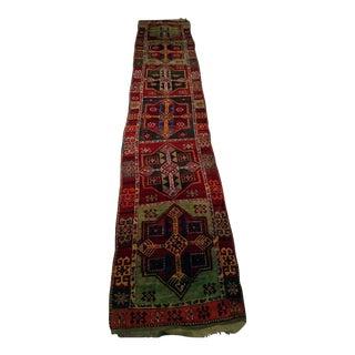 Early 1900s Turkish Oushak Runner - 3′ × 15′7″ For Sale