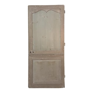 19th Century Painted Pine Interior Door For Sale
