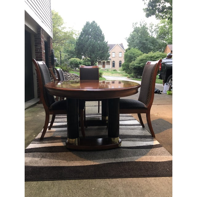 Mid Century Modern Stanley Dining Room Table And Chairs Chairish