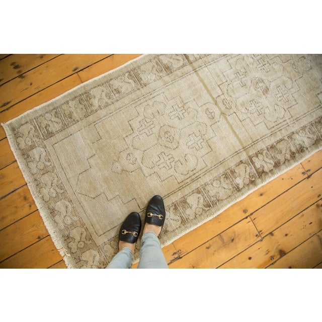 "Vintage Distressed Oushak Rug Runner - 3'1"" x 6'8"" - Image 3 of 9"