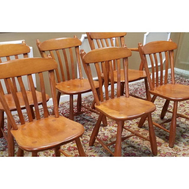 Maple Dining Room Set: 1950s Vintage Winchendon Furniture Solid Rock Maple Old