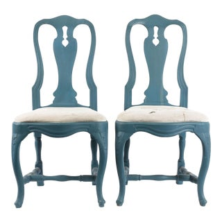 Vintage Gustavian Rococo Chairs- A Pair For Sale