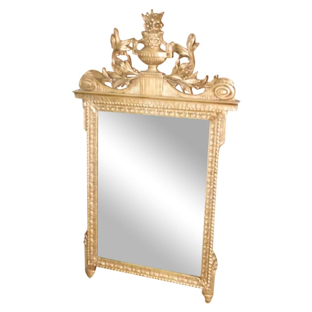 French Neoclassical Style Gold Leaf Finished Wall Mirror - Image 1 of 7