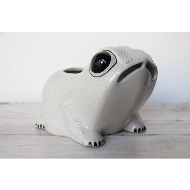 1970s Large Vintage Hobnail Frog Planter in the Style of Jean Roger For Sale - Image 13 of 13