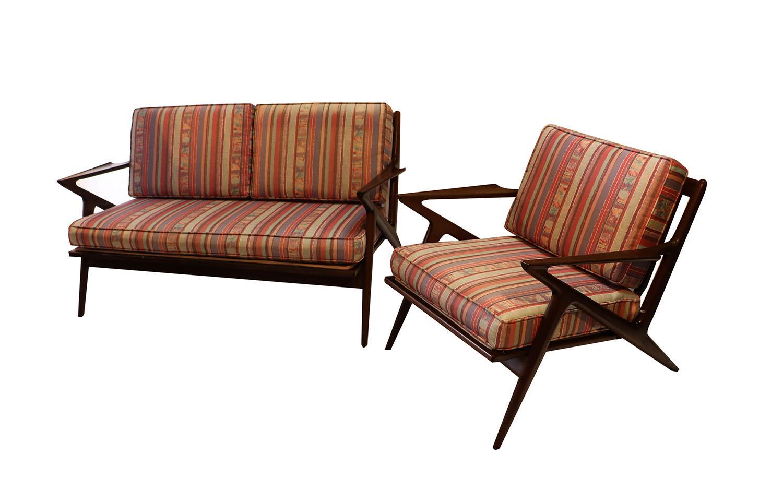 Brown Poul Jensen Original Z Lounge Chair Selig Danish Mid Century For Sale    Image 8