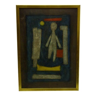 """Barducci Original """"Abstract Faces"""" Framed Painting"""