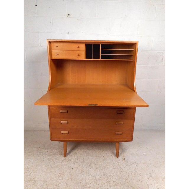 Mid-Century Modern Danish Modern Secretary Desk by Børge Mogensen for Soborg For Sale - Image 3 of 13