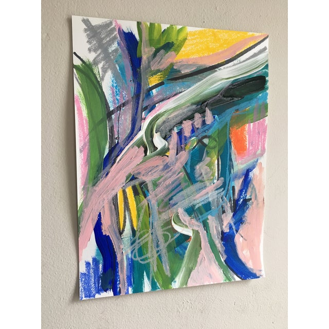 Original mixed media painting on paper by contemporary artist Jessalin Beutler. Completed in 2017, signed and dated. Not...