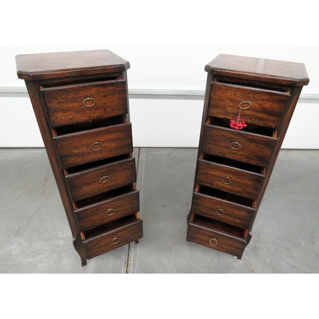 Louis XV Style Lingerie Chests - a Pair For Sale - Image 9 of 11