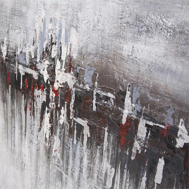 Abstract Kenneth Ludwig Chicago In the Moonlight Painting For Sale - Image 3 of 6
