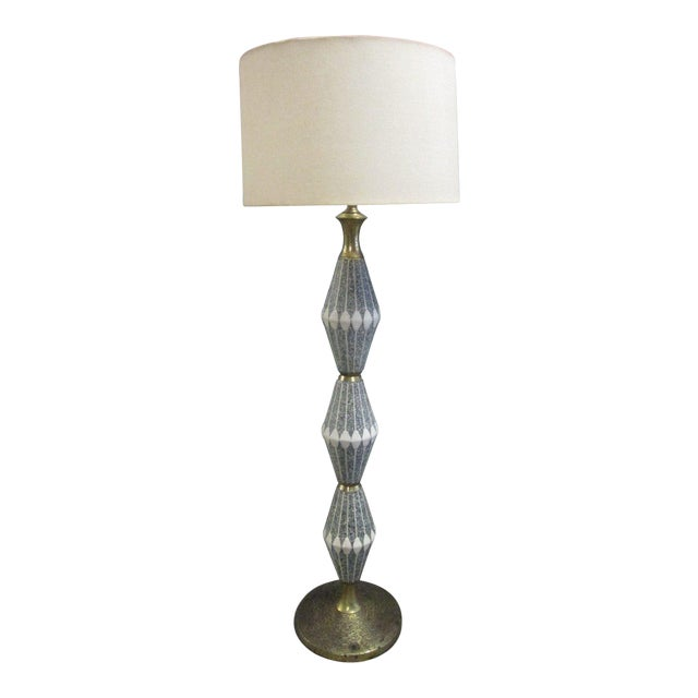 Unique Ceramic and Brass Floor Lamp by Gerald Thurston for Lightolier - Image 1 of 6