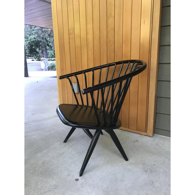 """Up for your consideration is this stunning original vintage """"Crinolette"""" chair manufacture by Asko of Finland and designed..."""