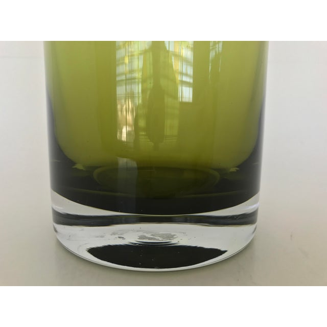 Polish Modern Art Glass Vase For Sale - Image 4 of 5